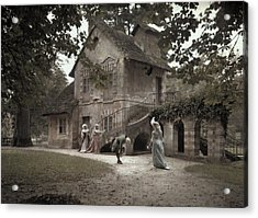 Company Members Reenact Life Acrylic Print by Gervais Courtellemont