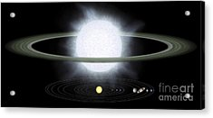 Comparison Of The Size Of A Hypergiant Acrylic Print by Stocktrek Images