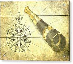 Compass And Monocular Acrylic Print