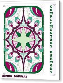 Complementary Harmony Acrylic Print