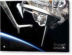 Components Of Space Shuttle Discovery Acrylic Print by Stocktrek Images