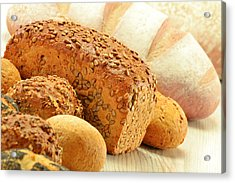 Composition With Bread And Rolls Acrylic Print by T Monticello