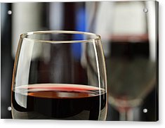 Composition With Glasses And Bottles Of Wine Acrylic Print