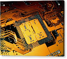 Computer Artwork Of Personal Computer Motherboard Acrylic Print by Laguna Design