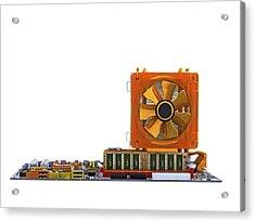 Computer Motherboard, Computer Artwork Acrylic Print by Pasieka