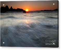Concealed By The Tides Acrylic Print by Mike  Dawson