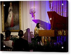 Concert Pianist Awadagin Pratt Performs Acrylic Print by Everett