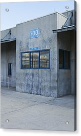Concrete Building In A Prison Exercise Acrylic Print by Roberto Westbrook