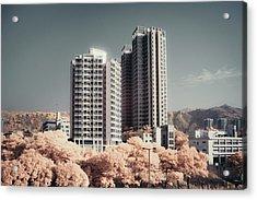 Concrete Highrise Buildings Acrylic Print by Yiu Yu Hoi