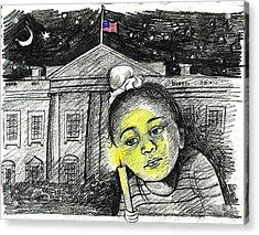 Condolence  Acrylic Print by Daljeet  Kaur