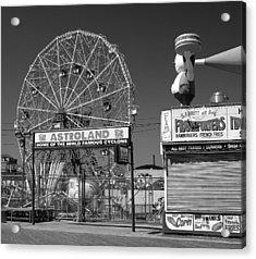 Coney Island Ny Acrylic Print by Raymond Earley