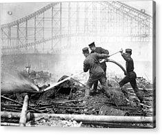 Coney Island, The Dreamland Fire, Men Acrylic Print by Everett