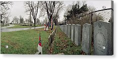 Confederate Graves Acrylic Print by Jan W Faul