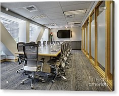 Conference Table And Chairs Acrylic Print