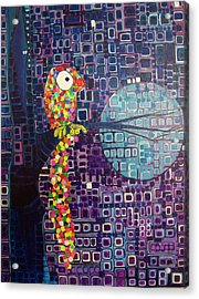Acrylic Print featuring the painting Confetti Bird by Donna Howard