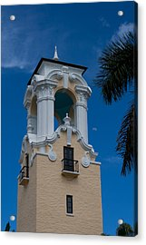 Acrylic Print featuring the photograph Congregational Church Tower by Ed Gleichman