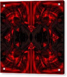 Conjoint - Crimson Acrylic Print by Christopher Gaston