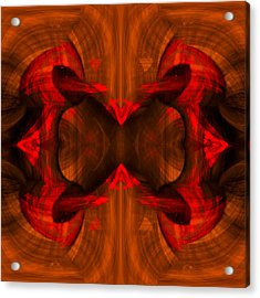 Conjoint - Rust Acrylic Print by Christopher Gaston