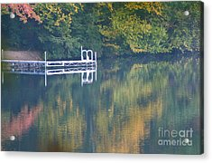Connecticut Autumn Reflections Acrylic Print by Cindy Lee Longhini