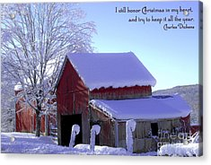 Connecticut Christmas Connecticut Usa Acrylic Print by Sabine Jacobs