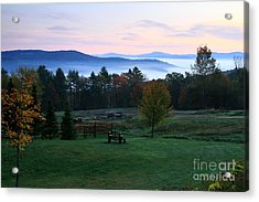 Connecticut River Valley Sunrise Acrylic Print by Butch Lombardi