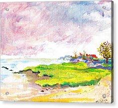 Connecticut Shore Acrylic Print by Vannucci Fine Art