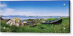 Connemara, Co Galway, Ireland Boat Near Acrylic Print