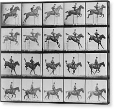 Consecutive Images Of Man Riding Acrylic Print by Everett