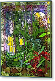 Conservatory Sunlight Acrylic Print by Mindy Newman