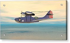 Consolidated Pby Catalina Acrylic Print by Walter Colvin