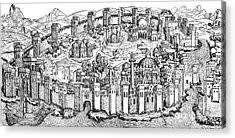 Constantinople, 1493 Acrylic Print by Photo Researchers