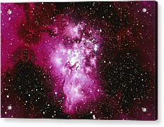 Constellation Image Generated By Computer Graphics Acrylic Print by Stocktrek