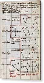 Constellations, 14th Century Manuscript Acrylic Print by Middle Temple Library