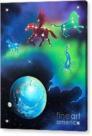 Constellations Acrylic Print by Kimberlee  Ketterman Edgar