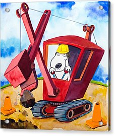 Construction Dogs 2 Acrylic Print by Scott Nelson