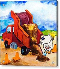 Construction Dogs 4 Acrylic Print by Scott Nelson