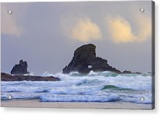 Consumed By The Sea Acrylic Print by Mike  Dawson