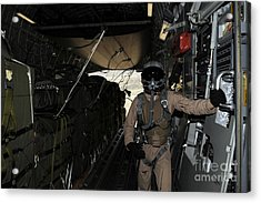 Container Delivery System Bundles Exit Acrylic Print by Stocktrek Images