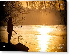 Contemplating Acrylic Print by Sonny Marcyan