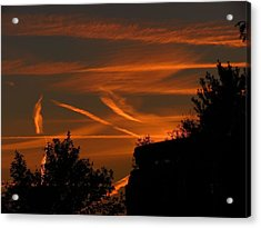 Contrails At Play Acrylic Print by Nikki McInnes