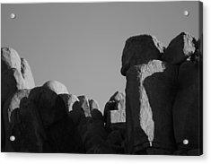 Contrast Stones  Acrylic Print by Carolina Liechtenstein