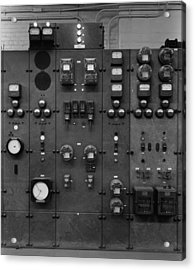 Control Panels Of The Detroit Edison Acrylic Print by Everett