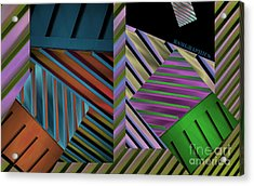 Conundrum Of Color Acrylic Print by Robert Meanor
