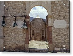 Convent Church Bells  Mexico Acrylic Print by John  Mitchell