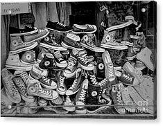 Converse Running Shoes Acrylic Print by Helen  Bobis
