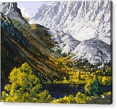 Convict Lake Acrylic Print by Mark Lunde