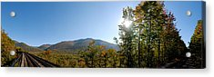 Conway Scenic Railroad  - Longtrack View Acrylic Print by Geoffrey Bolte