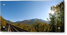 Conway Scenic Railroad - Short Acrylic Print by Geoffrey Bolte