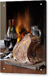 Cooked Rack Of Beef Acrylic Print by Jon Stokes