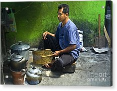 Cooking Acrylic Print by Charuhas Images